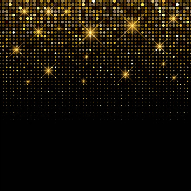 Fondo de lujo brillante fondo de brillos dorados vector gratuito