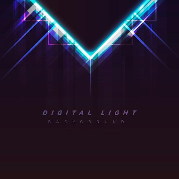 Fondo de luz digital vector gratuito