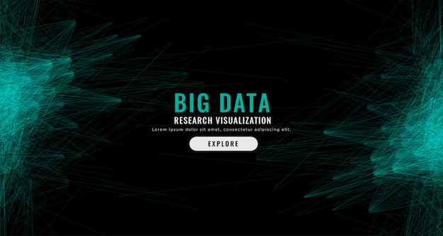 Fondo de malla de datos grandes abstractos digital vector gratuito