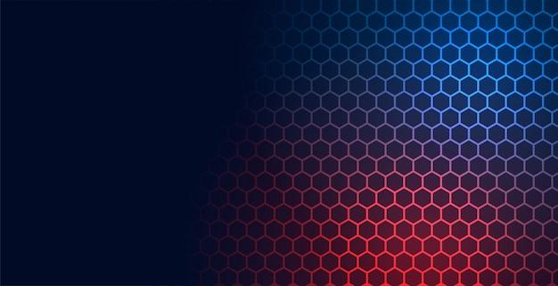 Fondo de malla de patrón de tecnología hexagonal con espacio de texto vector gratuito