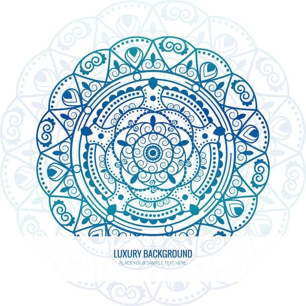 Fondo De Mandala De Color Azul Descargar Vectores Gratis