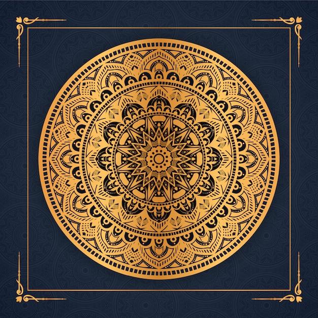 Fondo de mandala de lujo con patrón arabesco dorado árabe islámico oriental estilo premium vector Vector Premium