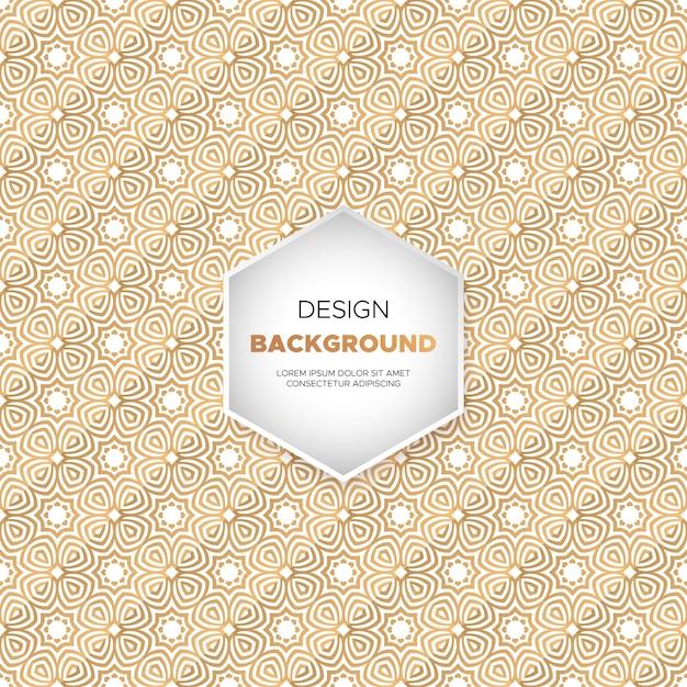 Fondo de mandala ornamental de lujo en color dorado. vector gratuito