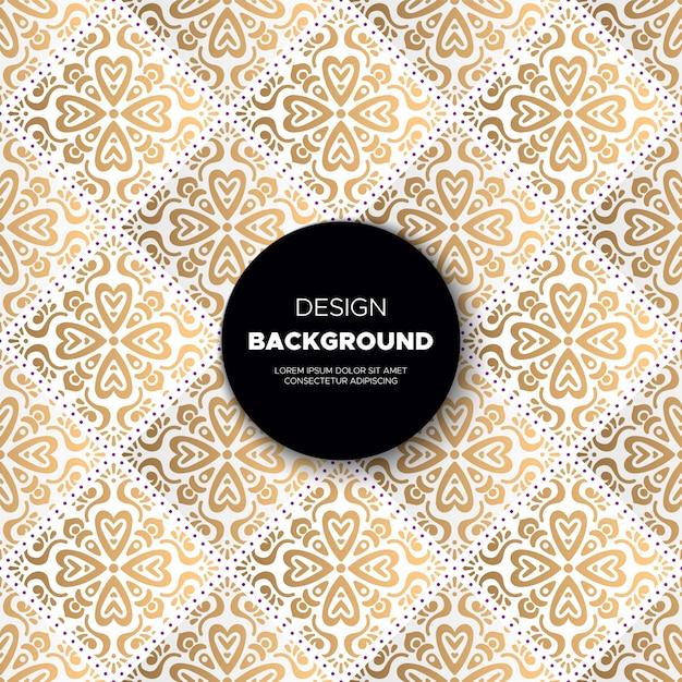 Fondo de mandala ornamental de lujo en color dorado vector gratuito