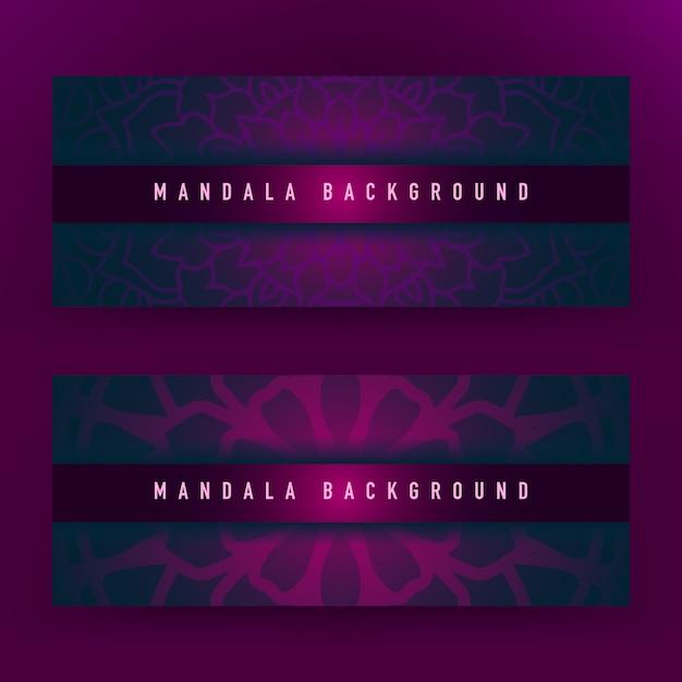 Fondo de mandala púrpura Vector Premium