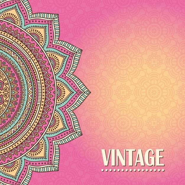 Fondo Mandala Vintage De Color Rosa Descargar Vectores