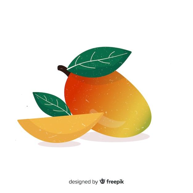 Fondo mango dibujado a mano vector gratuito