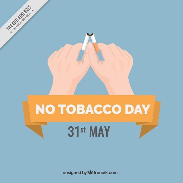 Fondo de manos rompiendo un cigarrillo vector gratuito