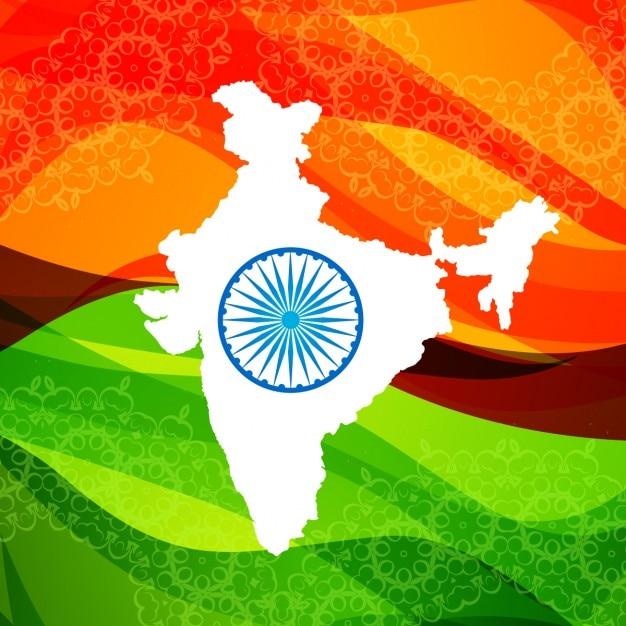Fondo de mapa de la india vector gratuito