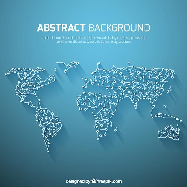 Fondo de mapa del mundo en estilo abstracto vector gratuito