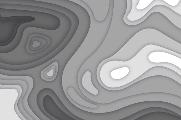 Fondo de mapa topográfico gris vector gratuito