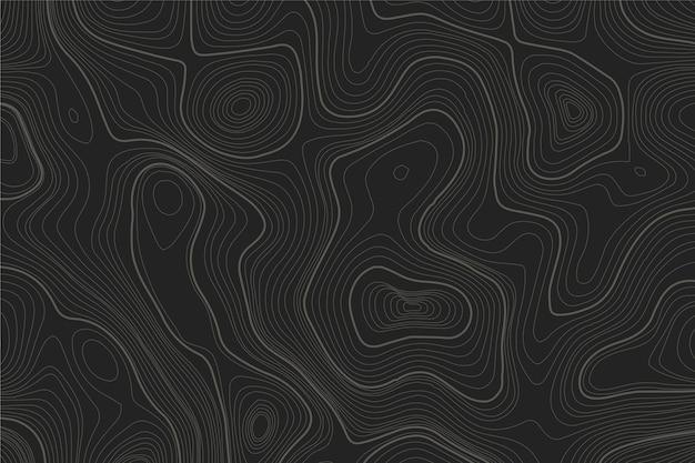 Fondo con mapa topográfico vector gratuito