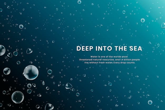 Fondo del mar profundo vector gratuito