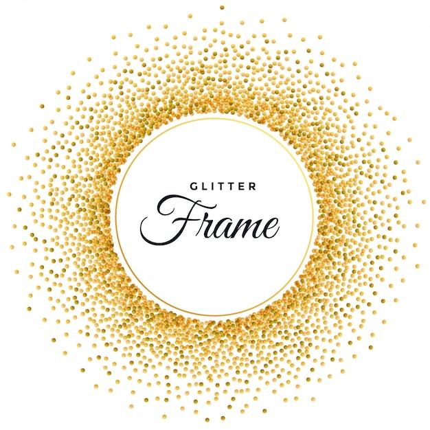 Fondo de marco brillo dorado abstracto vector gratuito