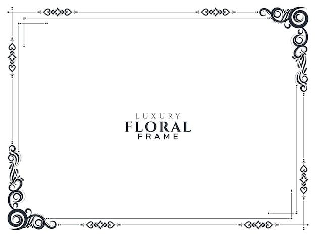 Fondo de marco floral abstracto vector gratuito