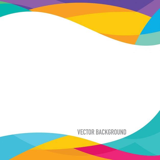 Fondo con marco multicolor vector gratuito