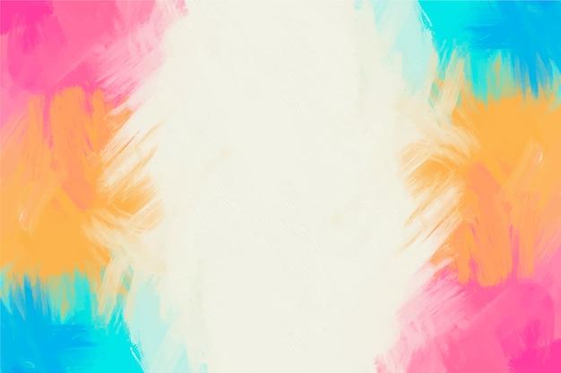 Fondo de marco pintado a mano colorido y espacio de copia en blanco Vector Premium