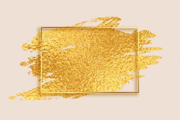 Fondo de marco vacío textura de hoja de oro abstracto vector gratuito