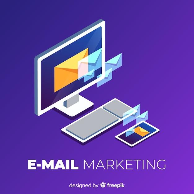 Fondo marketing correo electrónico vector gratuito
