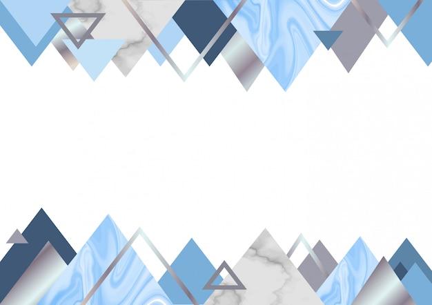 Fondo de mármol azul Vector Premium