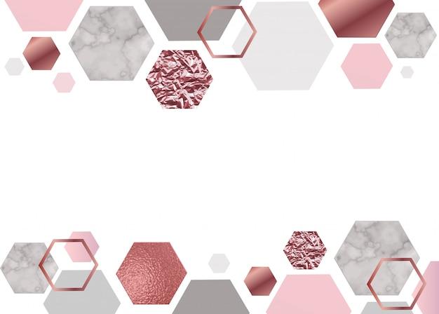 Fondo de mármol rosa Vector Premium