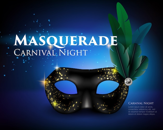 Fondo de máscara de mascarada vector gratuito