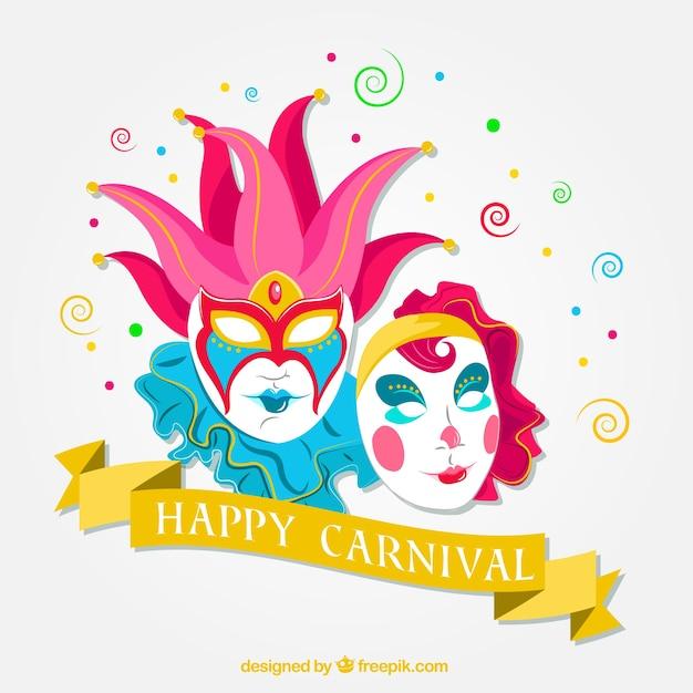Fondo de m scaras venecianas de carnaval descargar - Articulos carnaval ...