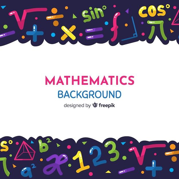 Fondo de matemática en dibujo animado vector gratuito