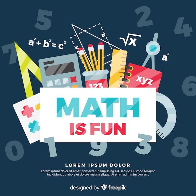 Fondo de matemáticas Vector Premium