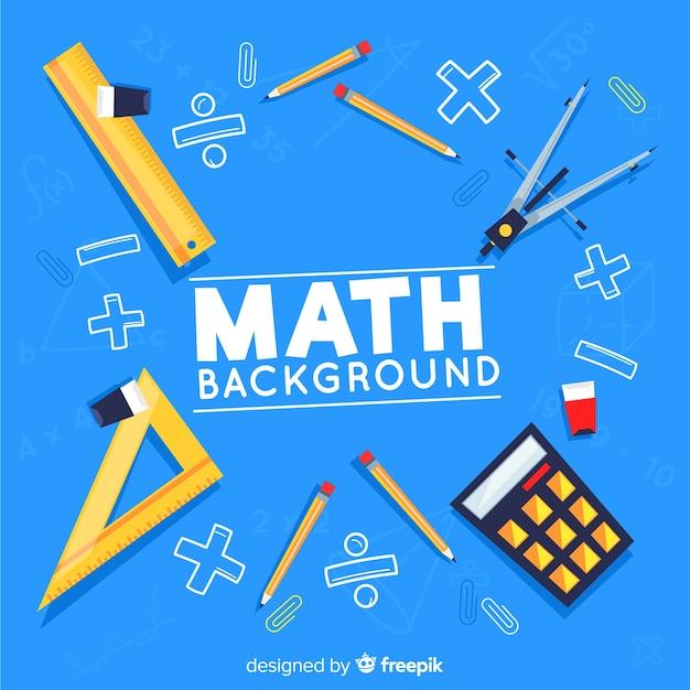 Fondo de matemáticas vector gratuito