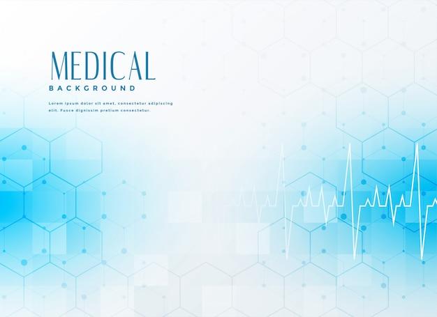 Fondo médico azul con estilo vector gratuito