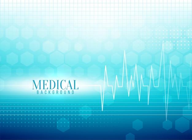 Fondo médico con estilo con línea de vida vector gratuito