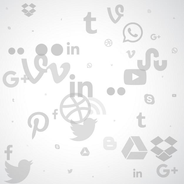 Fondo de los medios sociales vector gratuito