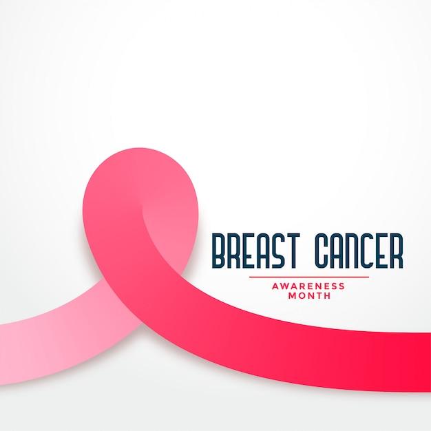 Fondo de mes de conciencia de cáncer de mama de cinta rosa vector gratuito