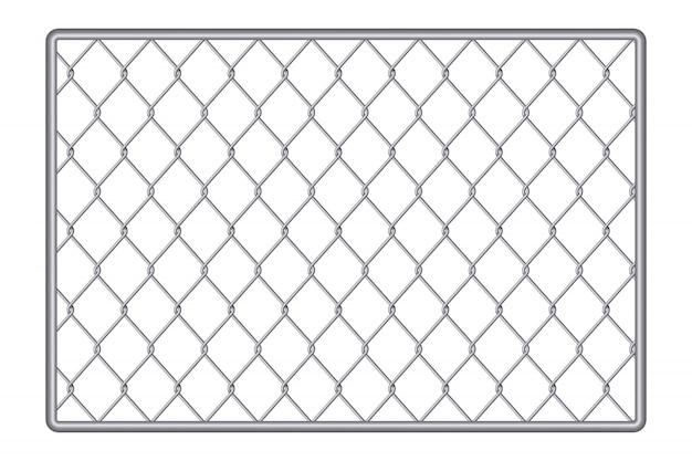 Fondo de metal de acero de malla de alambre de cerca de cadena. Vector Premium