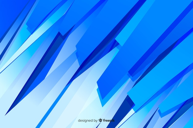 Fondo minimalista de formas abstractas azules vector gratuito