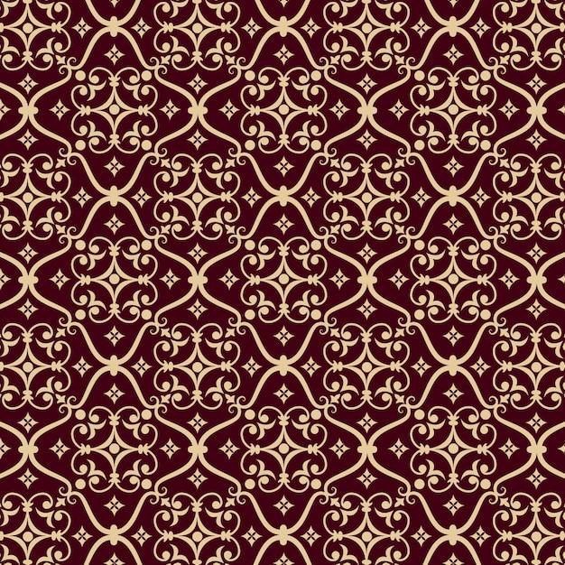Fondo del modelo inconsútil del damasco del vector. clásico lujo antiguo ornamento de damasco, real victoriana textura transparente para papeles pintados, textiles, envoltura. plantilla barroca floral exquisita. vector gratuito