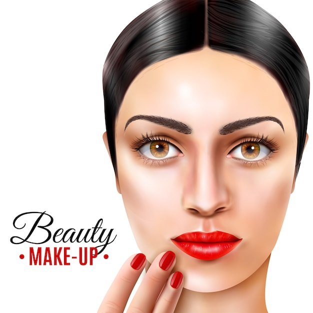 Fondo de modelo de salón de belleza vector gratuito