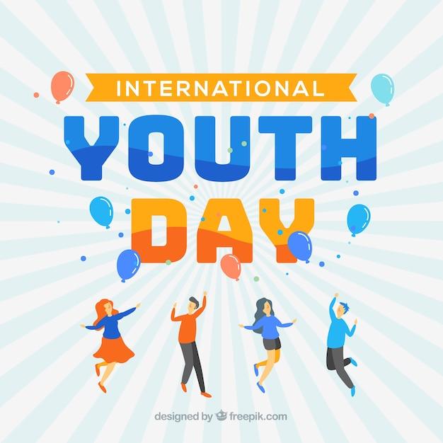 Fondo moderno del día de la juventud vector gratuito