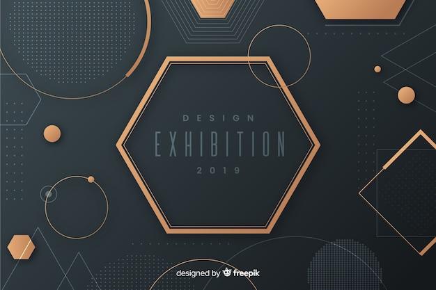 Fondo moderno de formas geométricas en diseño plano vector gratuito