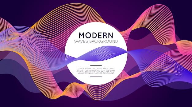 Fondo moderno de las ondas vector gratuito