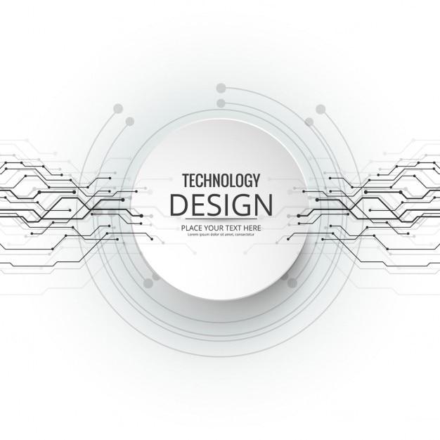 Fondo moderno de tecnología vector gratuito