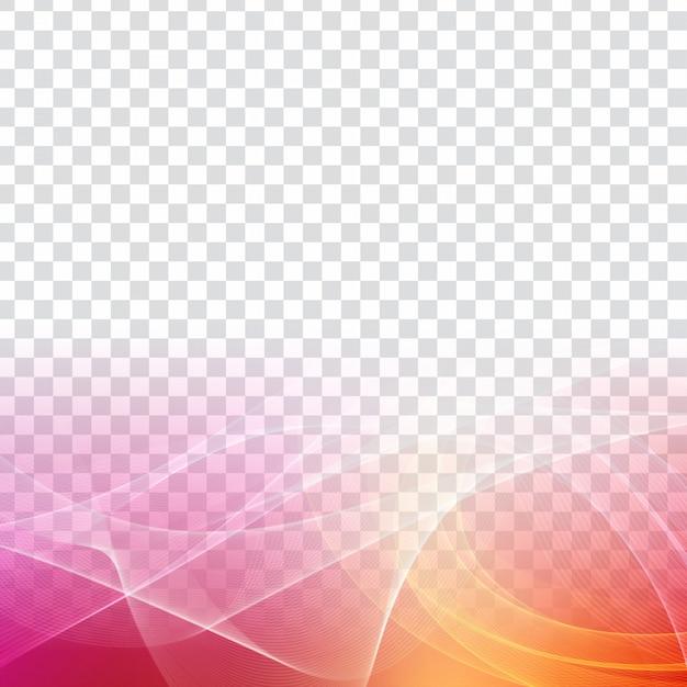 Fondo moderno transparente de la onda colorida abstracta vector gratuito