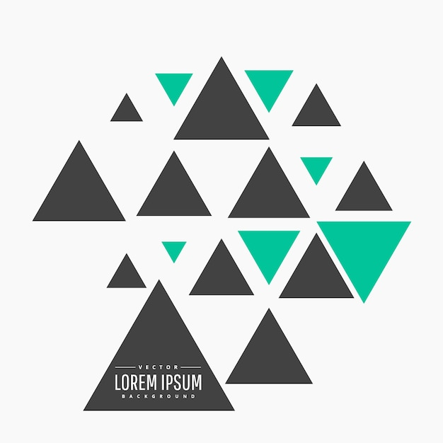 Fondo moderno con triangulos vector gratuito