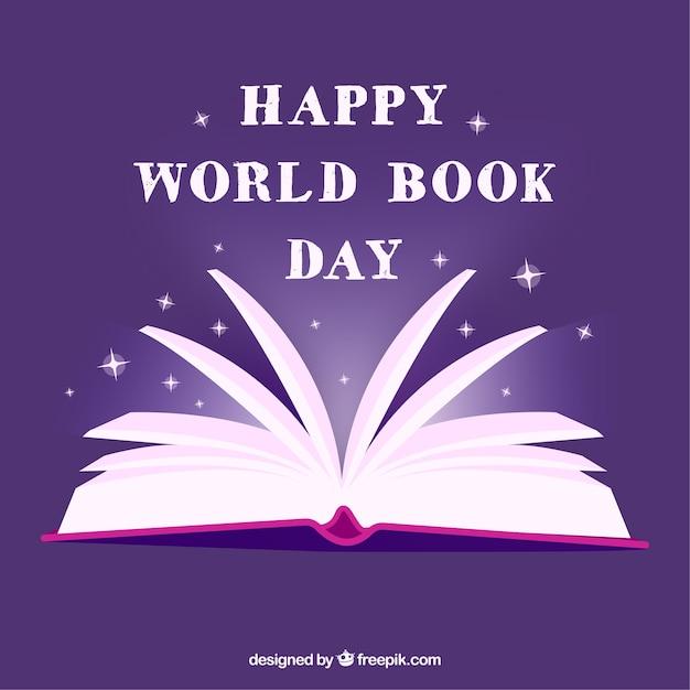 Fondo morado para el día internacional del libro   Descargar ...