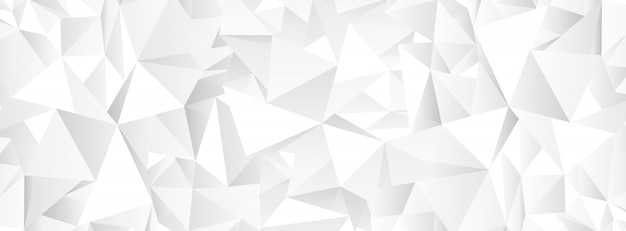 Fondo de mosaico abstracto poligonal blanco Vector Premium
