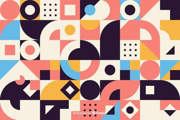 Fondo de mosaico de formas geométricas coloridas vector gratuito
