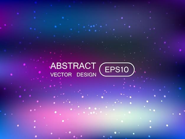 Fondo multicolor borroso abstracto con estrellas Vector Premium