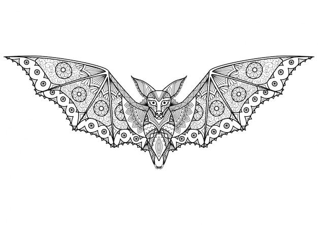 Fondo de murciélago dibujado a mano vector gratuito