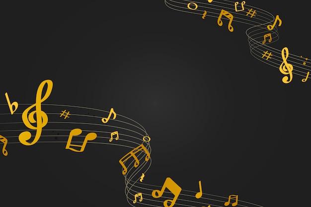 Fondo de musica vector gratuito